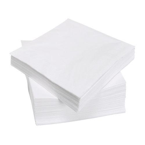 Ikea IKE-500.357.52 FANTASTISK Papierservietten in weiß; (40cm x 40cm); dreilagig; 100 Stück,