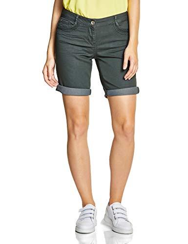 CECIL Damen 372198 New York Shorts, Grün (slate green), W30 (Herstellergröße:30)