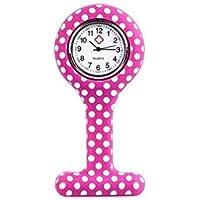 Lavillede Silikon Druckfarbe Krankenschwester Revers Pin Uhr Clip-on Hängen Medizinische Taschenuhr Männer Frauen Uhr Geschenk