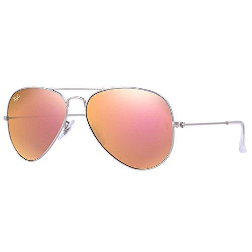 Ray-Ban RB3025 Aviator Sonnenbrille 55mm, Silber (019/Z2), 55 mm