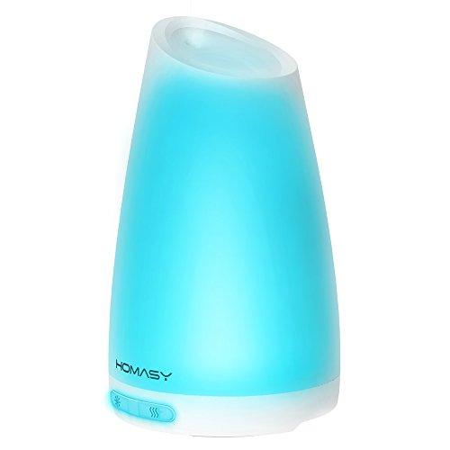 VicTsing 100ml Difrusor Ultrasonico de Aceites Esenciales, Humidificador Aromaterapia, Luz...