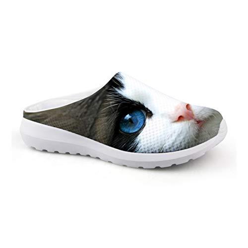 Wrail Unisex Clogs Pantoletten Hausschuhe 3D Print Katze Leicht Hausschuhe Freizeit Outdoor Schuhe Gartenscuhe Rutschfest CA48 EU 35 -
