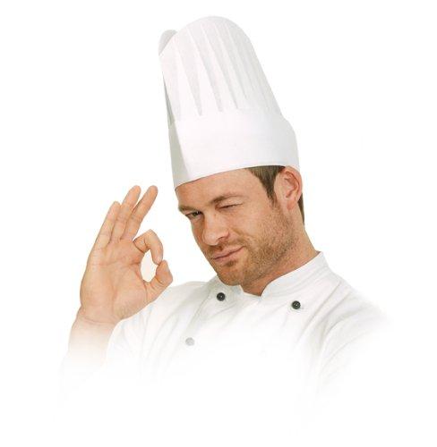 lot-de-10-toque-bonnet-excellent-blanc-en-papier-gaufre-hauteur-22-cm