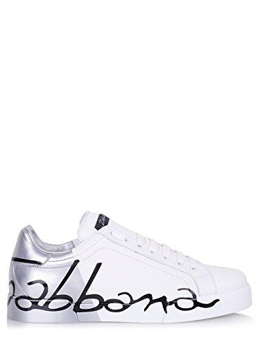Dolce & Gabbana Schuhe (M-01-Sc-53125) - 44(DE)/44(IT)/44(EU) - Weiss (& Gabbana Sneakers Leder Dolce)