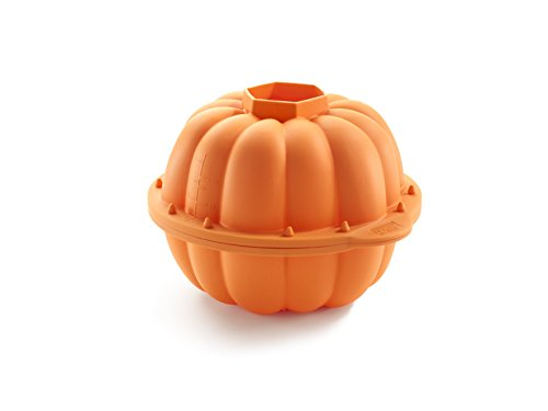 Lékué Celebrate Halloween - Form, 3D-Kürbisdesign, 2.300 ml, Farbe orange