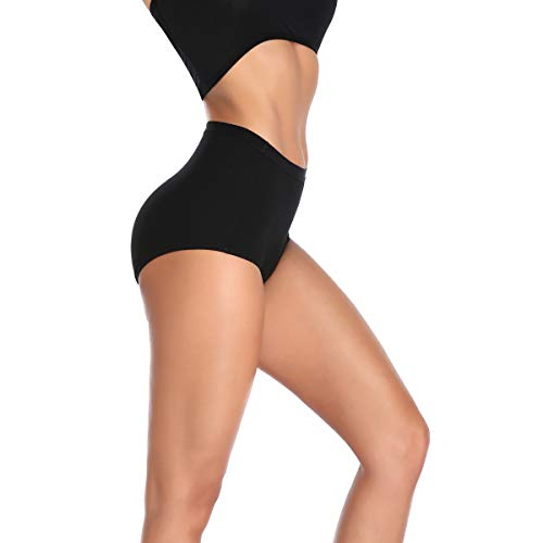 K-cheony Comfort Damen Hoher Taille Baumwolle Unterwäsche Weiche Slip Panty Regular und Übergröße - - Mittel - 4