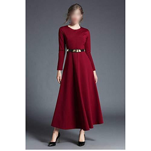 Bademode Frühjahr Neue Hochzeitsfeier mit Hochzeitskleid ist Party Fest Konzert Langarm Maxi langes Kleid Kleid Wein Frauen aufgerufen Bikinis (Farbe : Red, Size : XL)