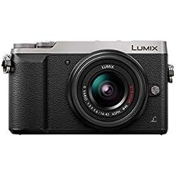 Panasonic Lumix Appareil Photo Hybride Compact DMC-GX80NEFS +Lumix 14-42 F3.5-5.6 (Capteur 4/3 16MP, Double Stab, Viseur, Écran inclin. tact, AF DFD, Vidéo 4K) Gris - Version Française