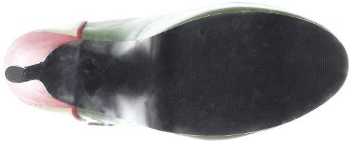 Pleaser TEE43, Damen Plateau Pumps Beige (Cream/Olive Green)