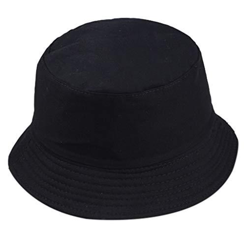 ex Packable Reversible Fisherman Hat Cap Bucket Sun Hat Hat Hat Hat Hat Hat Hat Sommer Cap Hut, Wandern, Strand, Sport Free schwarz ()