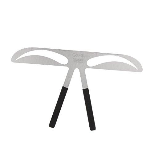 Baoblaze Pochoirs de Sourcil Faconner Outils Maquillage Eyebrows Stencil Reutilisable Noir