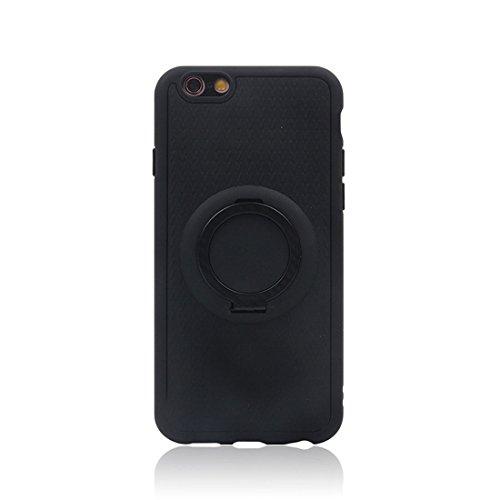 Wkae TPU + PC schützender rückseitiger Fall mit Ring-Halter für iPhone 6 ( Color : Blue ) Black
