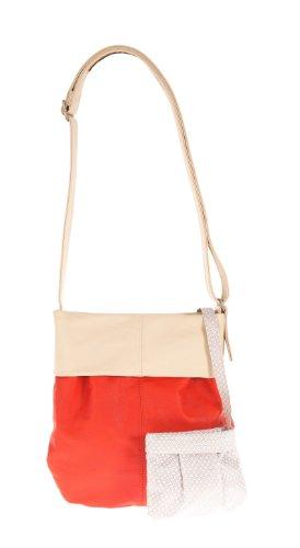zwei Mademoiselle M10 Shopper Umhängetasche 31 cm Coral / White (Orange / Beige)