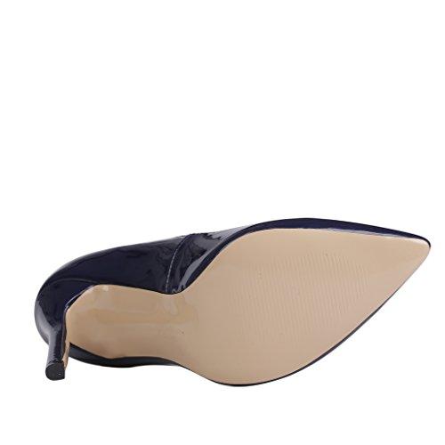EKS - scarpe tipo décolleté con tacco alto Donna Blau-C-Lackleder