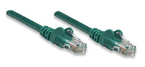 Preisvergleich Produktbild Patchkabel Intellinet RJ45 U / UTP Cat5e 1.00m grün