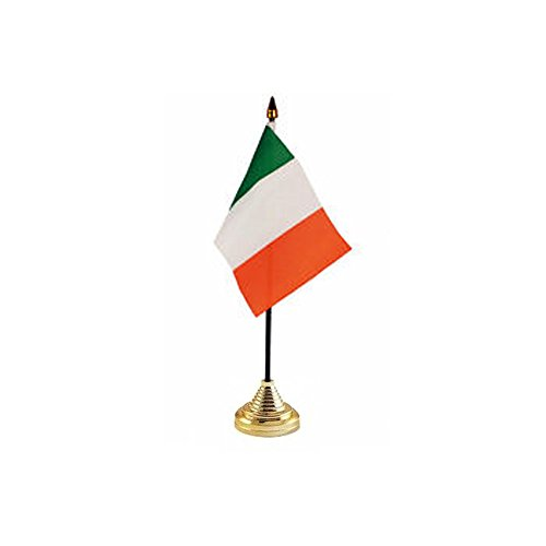 Irish St. Patrick's Day Tricolour Desktop Flag & Stand (Desktop-flags)