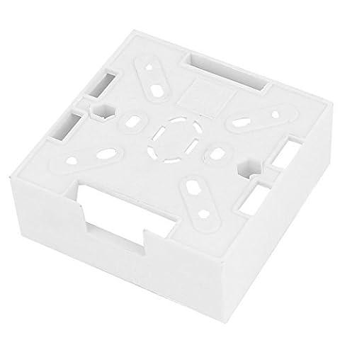DealMux weißen Kunststoff-Platz Gehäusesockel Face Plate Wall Panel-Abdeckung