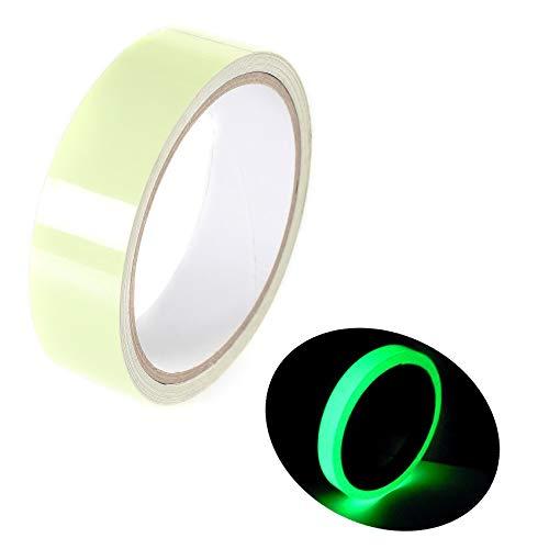Zehn Kostüm Minute - [10m x 25mm] Leuchtendes Klebeband - Wasserdicht Verschleißfest - Fluoreszierendes Phosphor Leuchtband Markierungsband - für Deko, Sicherheitszeichen, Design usw. 2x5m, Grünes Licht, TKD5033-2x