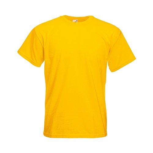 Fruit of the Loom Herren T-Shirt Super Premium T 61-044-0 Sunflower M