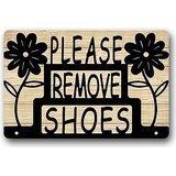 Door mats Floal entfernen Sie Bitte Ihre Schuhe Schild Fußmatten-Custom