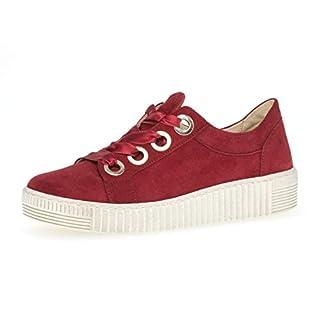 Gabor Damen Low-Top Sneaker 23.330.10, Frauen Halbschuh,Schnürschuh,Strassenschuh,Business,Freizeit,Rubin,43 EU / 9 UK