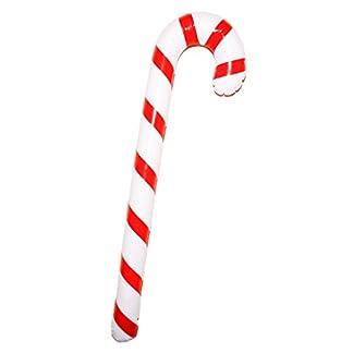 Storm&Lighthouse Bastón de Caramelo Inflable de Navidad (90cm) – Decoracion Fiesta de Navidad / Accesorio de Disfraces