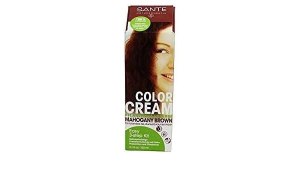 SANTE - Crema Colorante per Capelli - Tonalità Mogano Scuro - 100% Naturale  - Senza Ammoniaca 2a3d1c3ee600