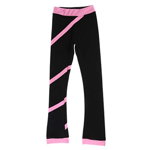 tive Eislaufen Hose Skating Pants Strumpfhose Leggings Fleece Sporthose für Frauen Mädchen - Pink 160 cm ()