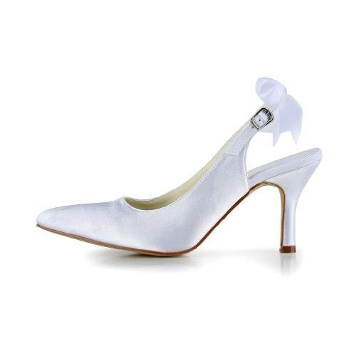 Jia Jia Wedding A3124 chaussures de mariée mariage Escarpins pour femme Blanc