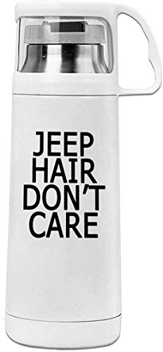 Bestqe Borraccia in Acciaio Inox,Termica Isolamento Jeep Hair Dont Care 11.8oz Travel Vacuum Insulated Water Bottle Cover Cup Stainless Steel Thermos Cup