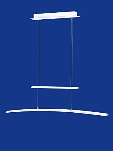 dimmbare deutsche LED Pendelleuchte Höhenverstellbar Weiss Dimmbar 2375 Lumen