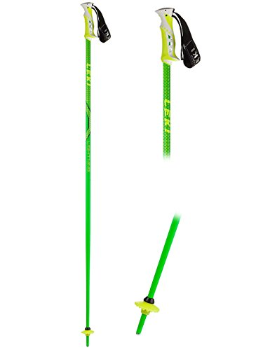 LEKI Erwachsene Skistock Lightning, Base Color: Green/ Design: Black-Dark Yellow, 120 cm, 632-4626