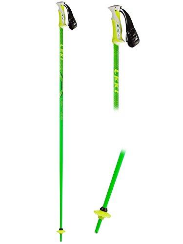 LEKI Erwachsene Skistock Lightning, Base Color: Green/ Design: Black-Dark Yellow, 120 cm, 632-4626