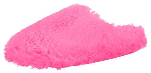 Kuschelige Damen Pantolette Hausschuh - Farbe: Pink - Gr: 37 von Brandsseller