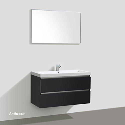 Badmöbelset Waschtisch, Unterschrank und Spiegel - 6