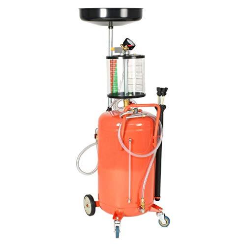 Preisvergleich Produktbild vidaXL Ölabsauggerät 70L Stahl Ölauffangwagen Ölablassgerät Ölauffanggerät