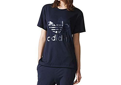 Adidas donna bf trf tee maglietta blu, 30