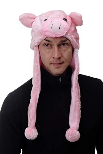 DRESS ME UP - H92/Pig Party Hut Mütze Halloween Karneval Piggy Schwein Ferkel Sau Pig Pink ca. 62 cm