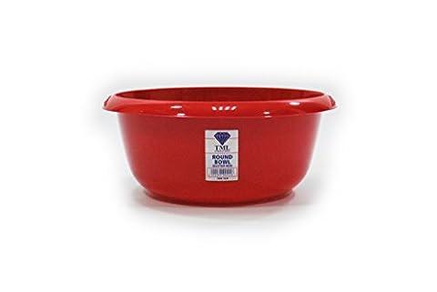 TML Round Bowl Red Glitter 8L