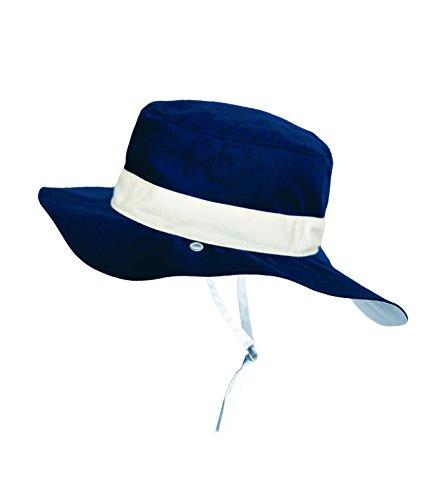 Ki ET LA Gorro Reversible 100% Anti UV Chapeau De Cowboy, Bleu/Panama Navy, 45-47 cm Bébé garçon