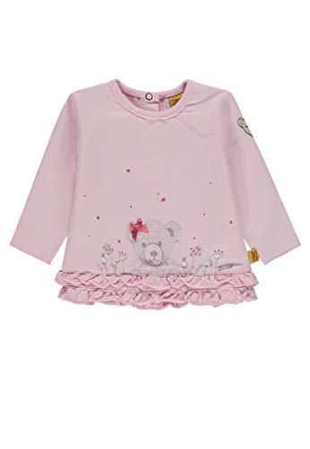Steiff Baby-Mädchen Sweatshirt 1/1 Arm, (Barely Pink|Rose 2560), 86