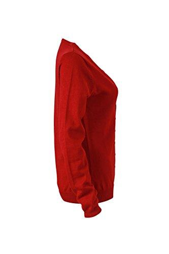 James & Nicholson T-shirt col en V Cardigan Vestes bordeaux