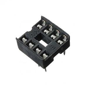 Type de Man Friday 10Pcs 8 broches DIP IC Socket Socket adaptateur à souder double Essuyez contacter
