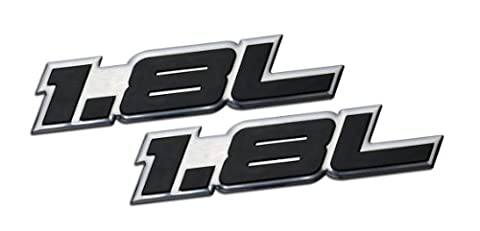 2 x (pair/Set) 1.8L Liter Embossed BLACK on Highly Polished Silver Real Aluminum Auto Emblem Badge Nameplate for Kia Spectra LS Sephia Elantra Forte LX Scion xD Hatchback 4 5 door Hyundai Elantra GLS Volkswagen VW Golf GTI New Classic Beetle GLX Jetta GLI Passat GL Cabrio 1.8T Sedan coupe 2 3 4 5 2dr 3dr 4dr 5dr door hatchback turbo turbocharged