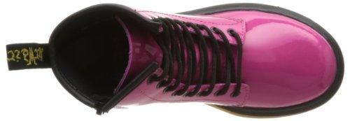 Dr. Martens Delaney, Boots mixte enfant Rose (Hot Pink Patent Lamper)