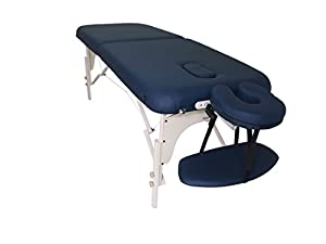 BodyPro DELUXE LIGHTWEIGHT Portable Massage Table Bed Couch-9CM High Density Foam- Built in Breathe Hole/Adjustable Face Rest Cradle-Reiki-FREE Carry Case- Massage Accessories included