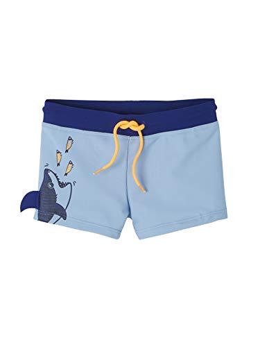 VERTBAUDET Bañador bóxer Shorty niño con Motivo tiburón Divertido Azul Medio Liso con Motivos 8A