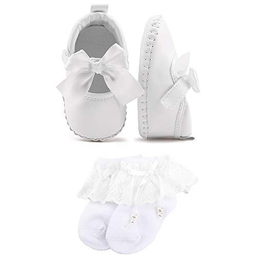 OOSAKU Baby Mädchen Bowknot Schuhe Weiche PU Leder Sohle Prewalker Schuhe Infant Kleinkind Mokassins -