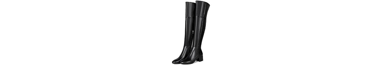 Tondo testa più velluto inverno stivali pelle Casual sopra il ginocchio Bootie-scarpe donna , 34 -
