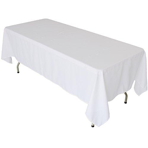 KaitatsuSen Stoff Tischdecke, Textil, Weiß, 52x70-inch/132x178cm (52 X 70 Tischdecke)